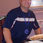Stuart looking happy now he's been fed!